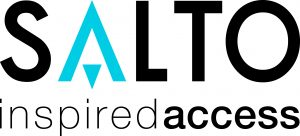 """SALTO Logo with tagline """"inspired access"""""""